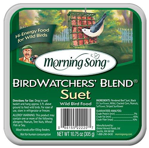 Morning Song Birdwatchers' Blend Suet Wild Bird Food, 10.75-Ounce -