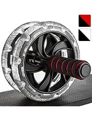 Proworks Roulette Pour Exercices D'Abdos I Double Abdominale Machine Avec Tapis Pour Musculation et Activités Sportives