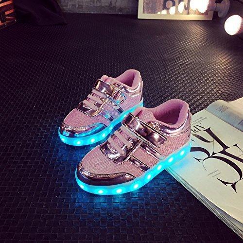 (+Petite serviette)Les nouvelles chaussures coréenne lumières lampe LED chaussures hommes et femmes chaussures USB émettant de la lumière l c0