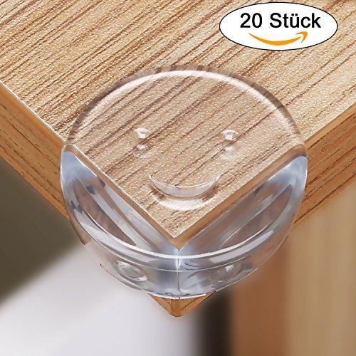 LOETAD 20er Eckenschutz Kantenschutz gegen Tisch- und Möbel-Ecken mit 3M Klebstoff Transparent für Babys und Kinder