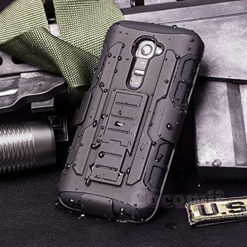 Cocomii LG G2Fall, Roboter Armor [Heavy Duty] Premium Belt-Clip Ständer stoßfest Hardcase Schale Bumper [Military Defender] Full Body Dual Layer Rugged, VS980LS980, schwarz