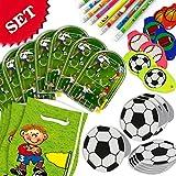 Mitgebsel-Sparset für Fußball-Kindergeburtstag und Fußballparty, 40-teiliges Geschenk-Set für Jungen und Mädchen, auch für eine Fussball-Verein-Feier, 8 Kids