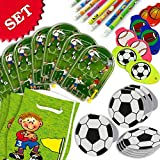 Mitgebsel-Sparset für Fußball-Kindergeburtstag/Fußballparty, 40-tlg. Geschenkset