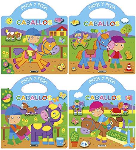 Pinta y pega caballos (4 títulos) por Susaeta Ediciones S  A