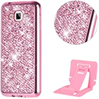 Funda Galaxy Grand Neo Plus I9060,Bling Bling Funda para Samsung Galaxy Grand Neo Plus,Ekakashop Luxuriös Rose Flash Patrón Ultra Delgado Slim Protectora TPU Silicona Handy Hülle Schutz hülle Cover Crystal Plástico Caso Suave Flexible Case Schale Etui para Samsung Galaxy Grand Neo Plus I9060 / I9082 (5,0 '') + Pata de Cabra (Color al Azar)