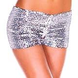 Wenchuang Pantaloncini Donna Eleganti Pantaloni Corti di Paillettes Shorts