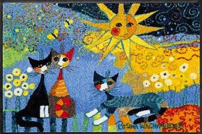 Dekorative Fußmatte von Salonloewe, Rosina Wachtmeister - Katzen unter der Sonne - Größe 50 x 75 cm von Posterdepot auf TapetenShop