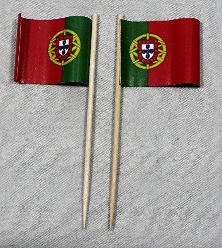 cker Flagge Portugal Papierfähnchen in Profiqualität 50 Stück 8 cm Offsetdruck Riesenauswahl aus eigener Herstellung ()
