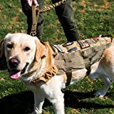 1T Gear OneTigris Leicht Taktische K9 Mesh Hundeweste Atmungsaktiv Harness MOLLE Hunde Geschirr Verstellbar Hundeausbildung Geschirr für Training,Walking (M, Wolf Braun) |MEHRWEG Verpackung
