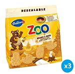 Bahlsen Zoo Bears & Bees Biscuits with Milk and Honey 100 grams Pack of 3 Pieces
