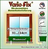 Vario-Fix Universal Haltebügel für 12cm Blumenkasten mit 90cm Spannstange