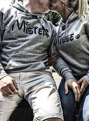 Comedy-Shirts -  Felpa con cappuccio  - Maniche lunghe  - Donna Damen | Schwarz / Weiss-Pink