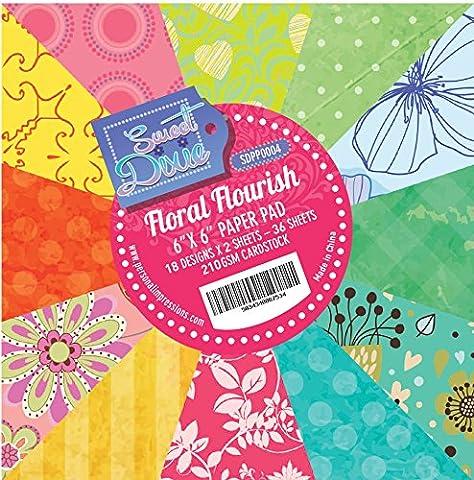 Sweet Dixie Floral Flourish 6x6