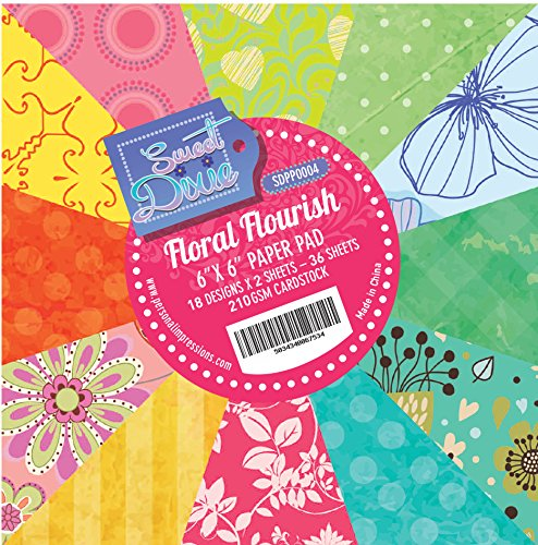sweet-dixie-floral-flourish-152-x-152-cm-paper-pad-carta-multicolore