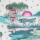 Art Gallery Fabrics Stoff mit Schloss Hase Eule kleinen