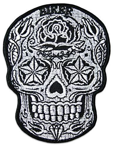 Sugarskull Aufnäher Aufbügler Patch Mexiko Totenkopf Rockabilly Greaser Latino Südamerika Bügelbild