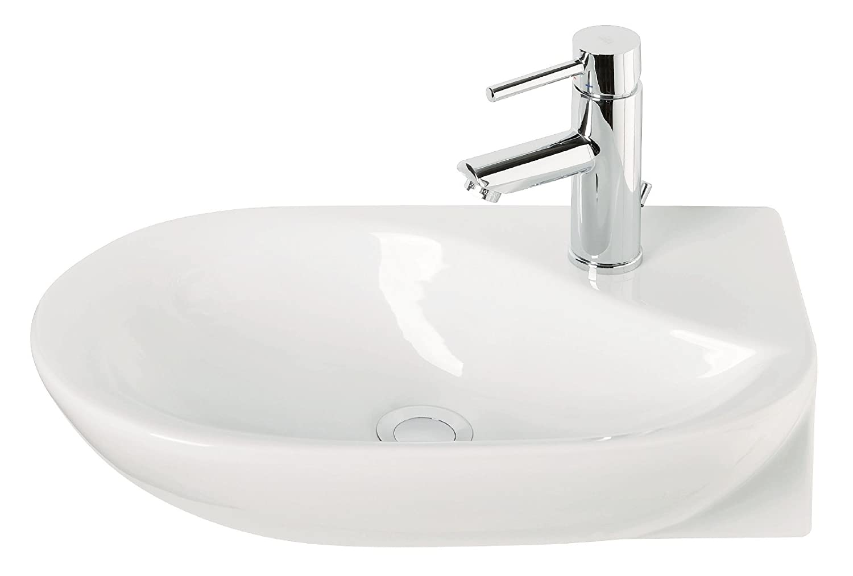 Eckhandwaschbecken droPino | 35 cm | Weiß | Eckwaschbecken ...
