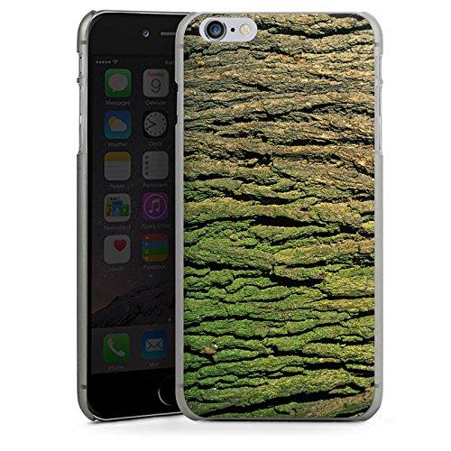 Apple iPhone X Silikon Hülle Case Schutzhülle Baumrinde Rinde Look Baum Holz Hard Case anthrazit-klar