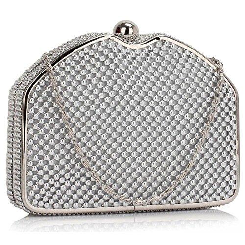 L And S Handbags, Poschette giorno donna Silver