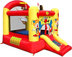 Happy Hop 9304Y Clown Slide and Hoop Bouncer, Multicolour