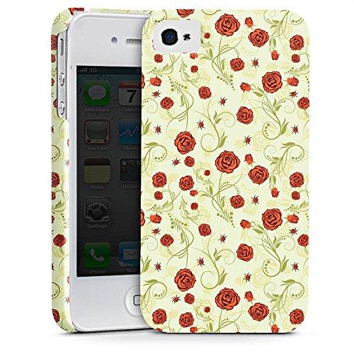 Apple iPhone X Silikon Hülle Case Schutzhülle Rosen Muster Ornament Premium Case glänzend