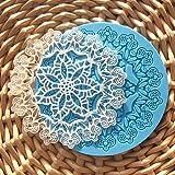 Wdehaomo -- Silicone Cane e pupazzo di neve Shape vassoio di cioccolato (colore Randoms)