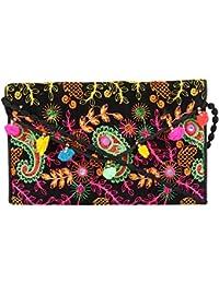 Rajasthani Jaipuri Bohemian Art Sling Bag Foldover Purse - B07FMYFYHD