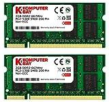 Komputerbay 4Go 2 X 2Go DDR2 667 MHz PC2-5300 PC2-5400 DDR2 667 (200 PIN) SODIMM mémoire d'ordinateur portable