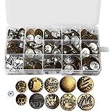 Ruix 100 Sets Jeans Knöpfe, verschiedene Größe Metallknöpfe Ersatz-Kit mit Box