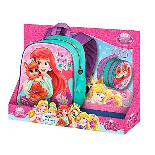 Princesas Disney - Pack mochila + monedero redondo Ariel (Karactermania 29974)