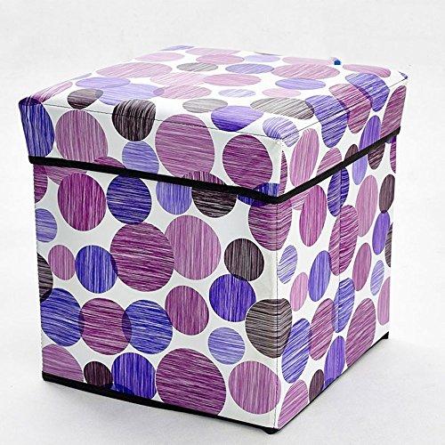 DIDIDD Sofa Hocker-Quadrat Hocker verdickt Bett vor Hocker Wechsel Schuh Hocker Speicherhocker (3 Farben optional) (31 * 31 * 32cm) --Storage Hocker,B (Rosa Sattel Schuhe)