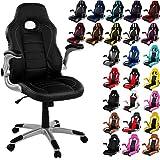 """RACEMASTER® """"GT Series ONE"""" - Silla de escritorio/Gaming silla de despacho - Mecanismo de inclinación y elevación Homolación SGS - colore Negro silla de oficina"""