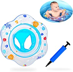 Baby Nuoto Anello, Attiant gonfiabile galleggiante per piscina per bambini con sedile ideale per bambini Piscina per bambini, galleggiante per baby ring Adatto per l'allenamento del bambino, Con tubo gonfiabile