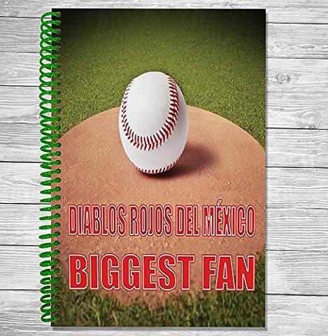 Diablos Rojos DEL Mexico Biggest Fan–A5Baseball ordinateur portable/bloc-notes/bloc de