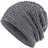 Compagno Wintermütze warm gefütterte Mütze Wabenmuster Beanie meliert Einheitsgröße, Farbe:Hellgrau meliert