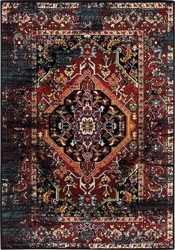 wecon home Heritage Moderner Markenteppich, Polypropylen, Mehrfarbig, 200 x 133 x 1.3 cm