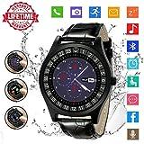 Bluetooth Smartwatch mit Kamera, Uhr Intelligente Armbanduhr Fitness Tracker Armband Sport Uhr mit/Schrittzähler/Schlaftracker/Romte Capture Kompatibel mit Android für Männer Damen