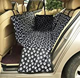 AnGe Hunde-Auto-Sitzbezüge, weiche rutschfeste Hunde-Sitzbezüge Barriere für Auto-LKW-Rücksitz-Abdeckungen Reise-Hängematte mit Haustier-Hund-Auto-Sicherheitsgurt Universalentwurf für alle Autos