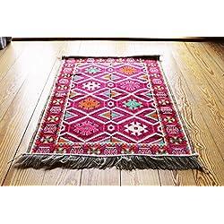 110 cm x 70 cm Alfombra Oriental, Kelim, Kilim, Carpet,Manta al Suelo , Rug nuevo de Damaskunst S 1-2-1