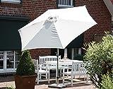 Mercato ombrello 300 cm/6 pezzi Antracite/verde