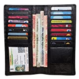 #7: Valentine Gift For Your Loved Ones-Style98 Black Real Leather Women's clutch|| Men's Travel Wallet|| Unisex Long Wallet||Credit Card Holder||Business Card Holder||Credit Card Case
