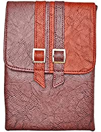 Urban Fads Multi-color Leather Sling Bag For Women