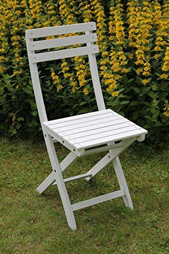 Sedex BISTRO 2er Set Klappstuhl für Garten, Terrasse und Balkon FSC® 100{ff63a769187a11851eb5696df55f7404725ad793048f18688b97c9efc64b45a7} Eukalyptusholz - weiß gewischt