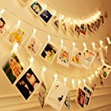 Party Propz 20 Photo Clip Fairy String Lights for Outdoor,Indoor, Anniversary, Birthday Party,Diwali, Christmas Decoration,Va