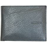 Men's Quality Trifold Dark Navy Blue-grey Wallet Azzaro