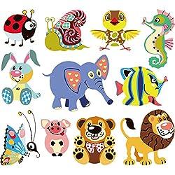 Hergon Forst toppe animali per bambini Clothe DIY adesivi, Iron On patch badge applique per borsa cappello jeans patch applique Decor,84#