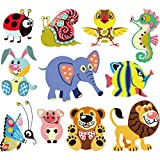 Nysunshine Dessin animé Modèle Animal Iron on, Transfert Applique Iron on Patch thermocollant Flex pour Textile