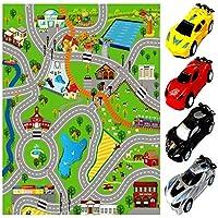Rexco Giant Kids Childrens City Playmat Fun Town Cars Play Village Farm Road Carpet Rug Toy Mat