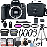 Canon EOS 77D DSLR Camera (Body Only) With Bundle - Includes 58mm HD Wide Angle Lens + 2.2x Telephoto + 2Pcs 32GB Sandisk SD Memory + Filter & Macro Kit & More Accessories