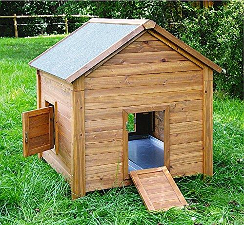 Kleintierstall für Kaninchen oder Hühner, BIG, Kerbl, einstöckig, mit Bitumendach, 105 x 100 x 108 cm - 2
